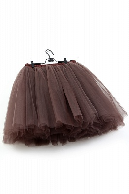 Ball-Gown Tulle Short Mini Skirts | Elastic Women's Skirts