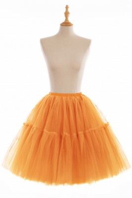Puffy Knee-length Carnival Peticoat in Burgundy, White, Yellow, Gray, Pink, Mint Green_10