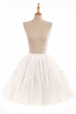 Puffy Knee-length Carnival Peticoat in Burgundy, White, Yellow, Gray, Pink, Mint Green_2