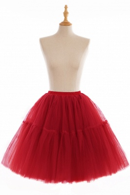 Puffy Knee-length Carnival Peticoat in Burgundy, White, Yellow, Gray, Pink, Mint Green_4
