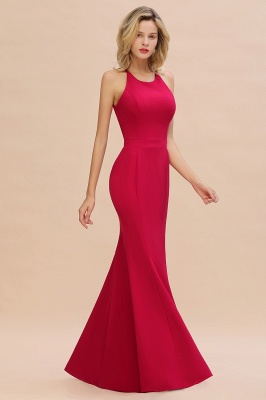 Sexy Red Halter Mermaid Prom Dress Long Evening Gowns Online_8