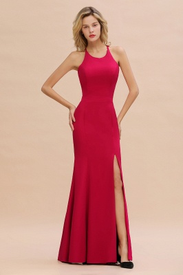 Sexy Red Halter Mermaid Prom Dress Long Evening Gowns Online_4