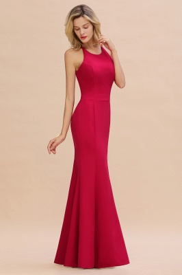 Sexy Red Halter Mermaid Prom Dress Long Evening Gowns Online_1