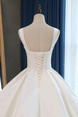 Straps Square-Neck Ruffles Sleeveless Bridal Gowns_6