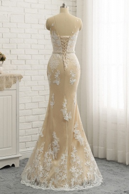 Jewel Tulle Sleeveless Overskirt Champagne Wedding Dresses_6