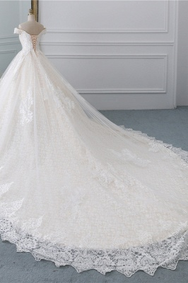 Luxury Ball Gown Off-the-Shoulder Lace Wedding Dress Sweetheart_3