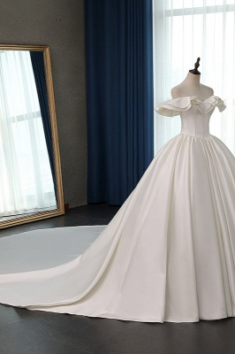 Ruffles Sleeveless Strapless Sweetheart Bridal Gowns On Sale_3