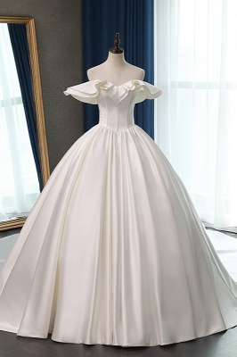 Ruffles Sleeveless Strapless Sweetheart Bridal Gowns On Sale_1