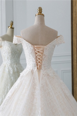 Luxury Ball Gown Off-the-Shoulder Lace Wedding Dress Sweetheart_6