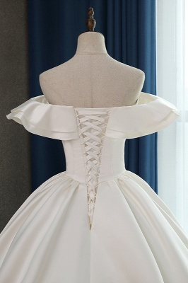 Ruffles Sleeveless Strapless Sweetheart Bridal Gowns On Sale_5