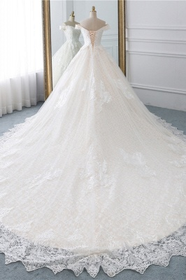 Luxury Ball Gown Off-the-Shoulder Lace Wedding Dress Sweetheart_2