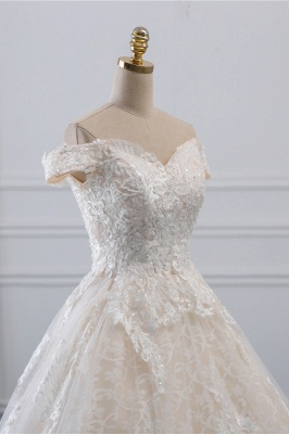 Luxury Ball Gown Off-the-Shoulder Lace Wedding Dress Sweetheart_5