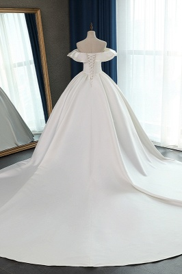 Ruffles Sleeveless Strapless Sweetheart Bridal Gowns On Sale_2