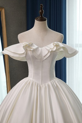 Ruffles Sleeveless Strapless Sweetheart Bridal Gowns On Sale_4