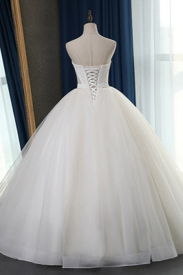 Sleeveless White Tulle Strapless Sweetheart Bridal Gowns On Sale_2