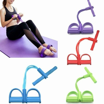 Fitness Resistance Bands Latex Pedal Exerciser Sit up Pull Rope Expander Elastic Bands Yoga Equipment Pilates Workout Tool_6