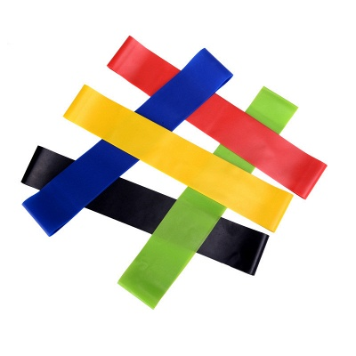 5 PCS Per Set with Bag Elastic Yoga Stripes Rubber Resistance Assist Band Gym Equipment Exercise Band Workout Pull Rope Stretch Cross Training_4