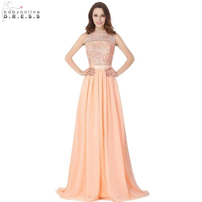 Cheap A-line Chiffon Bridesmaid Dress Tulle Lace Ruffles in Stock_6