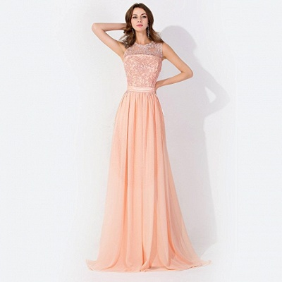 Cheap A-line Chiffon Bridesmaid Dress Tulle Lace Ruffles in Stock_4