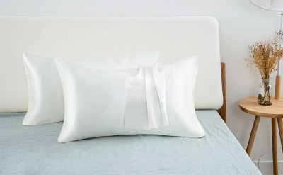 Fatapaese Satin Pillowcase Set of 2, Standard Size Silky Pillow Cases for Hair and Skin No Zipper_21