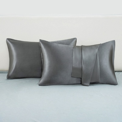 Fatapaese Satin Pillowcase Set of 2, Standard Size Silky Pillow Cases for Hair and Skin No Zipper_12