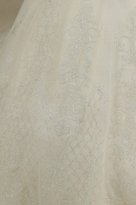 Cap Sleeve Aline Cathedral wedding dress Tulle Lace Appliques Garden Bridal Gown_4