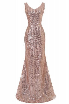 EVERLEIGH | Mermaid V-neck Sleeveless Floor-Length Sequins Prom Dresses_3