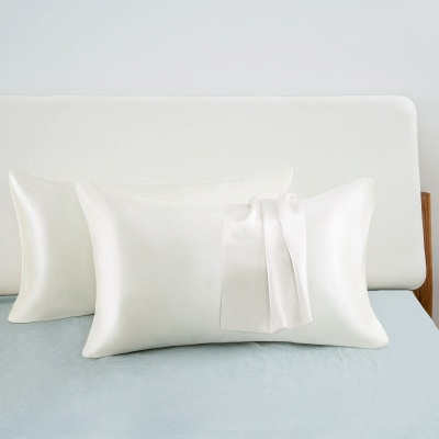 Fatapaese Satin Pillowcase Set of 2, Standard Size Silky Pillow Cases for Hair and Skin No Zipper_2