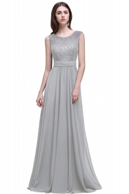AUDRINA | A-line Scoop Chiffon Prom Dress With Lace_6
