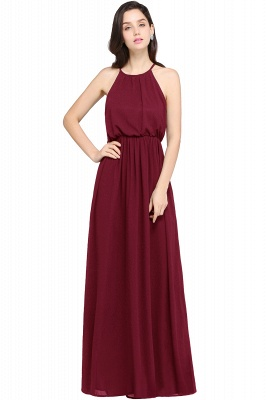 CHEYENNE | A-line Floor-length Chiffon Navy Blue Simple Prom Dress_2