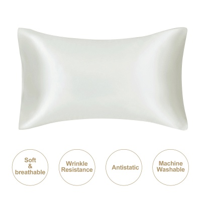 Fatapaese Satin Pillowcase Set of 2, Standard Size Silky Pillow Cases for Hair and Skin No Zipper_34