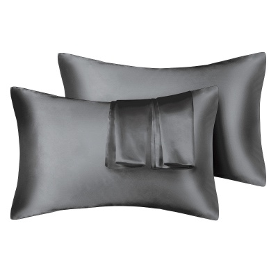 Fatapaese Satin Pillowcase Set of 2, Standard Size Silky Pillow Cases for Hair and Skin No Zipper_36