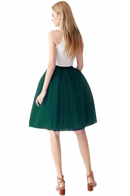 White Short Puffy Petticoat with Layers_59
