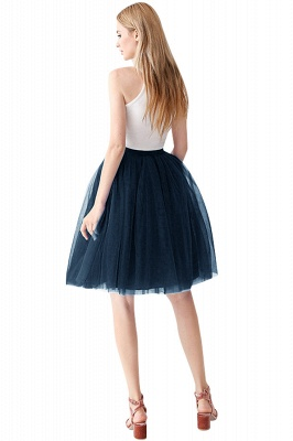 White Short Puffy Petticoat with Layers_22