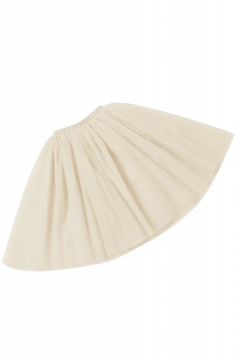 White Short Puffy Petticoat with Layers_70