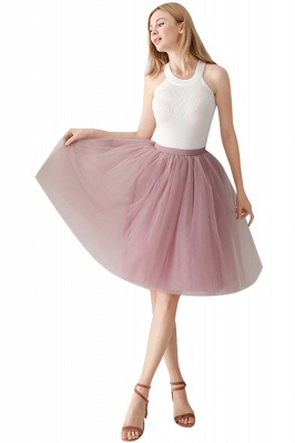White Short Puffy Petticoat with Layers_30