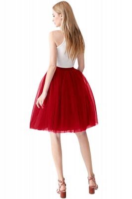 White Short Puffy Petticoat with Layers_51