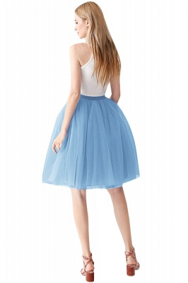 White Short Puffy Petticoat with Layers_44