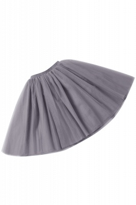 White Short Puffy Petticoat with Layers_73
