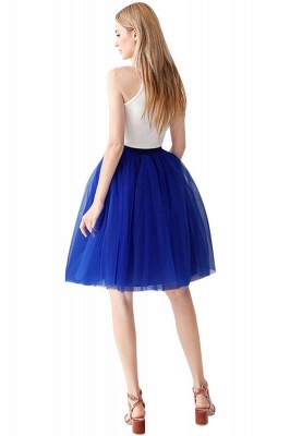 White Short Puffy Petticoat with Layers_4