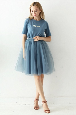White Short Puffy Petticoat with Layers_52