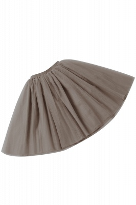 White Short Puffy Petticoat with Layers_64