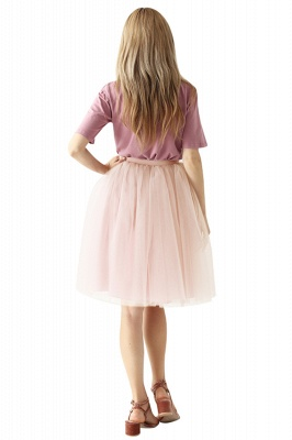 White Short Puffy Petticoat with Layers_77