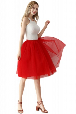 White Short Puffy Petticoat with Layers_40