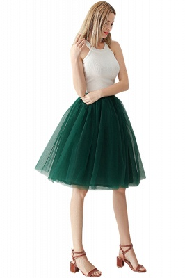 White Short Puffy Petticoat with Layers_58