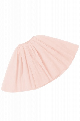 White Short Puffy Petticoat with Layers_69