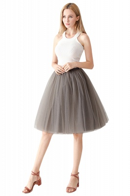 White Short Puffy Petticoat with Layers_62