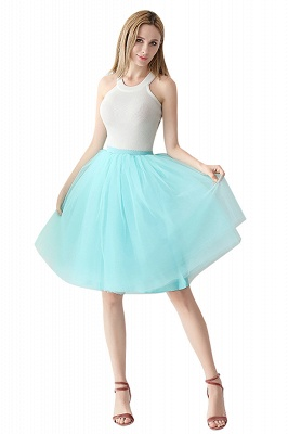 White Short Puffy Petticoat with Layers_19