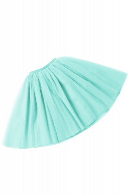 White Short Puffy Petticoat with Layers_13