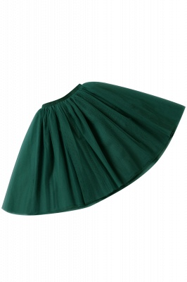 White Short Puffy Petticoat with Layers_60